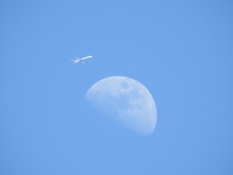 Airplane With Moon 3-16-2016