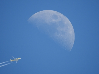 Spirit 985 - Airplane With Moon - 3-15-2016